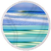 Sea Of Dreams Collage Round Beach Towel