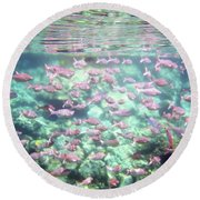 Sea Of Fish 2 Round Beach Towel by Karen Nicholson