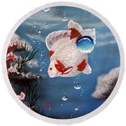 Sea Princess Round Beach Towel