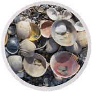 Sea Shell Mozaic Round Beach Towel