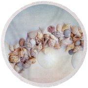 Sea Shells 4 Round Beach Towel