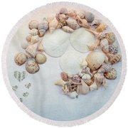 Sea Shells 5 Round Beach Towel