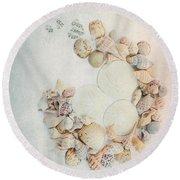 Sea Shells 7 Round Beach Towel