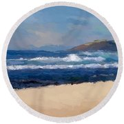 Sea Shore Round Beach Towel