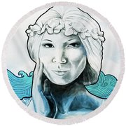 Sea Siren Round Beach Towel