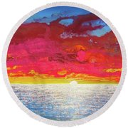 Sea Splendor Round Beach Towel by Mary Ellen Frazee