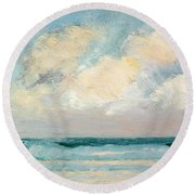 Sea Study - Morning Round Beach Towel