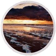 Sea Sunset Round Beach Towel