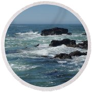 Sea Therapy Round Beach Towel by Adria Trail