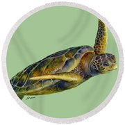 Sea Turtle 2 Round Beach Towel