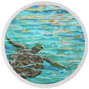 Sea Turtle Dream Round Beach Towel