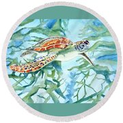 Sea Turtle Series #1 Round Beach Towel
