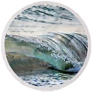 Sea Turtles In The Waves Round Beach Towel