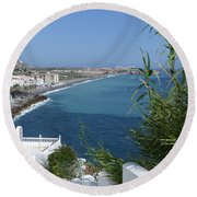 Round Beach Towel featuring the photograph Sea View - Caleta by Phil Banks