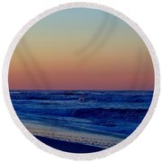 Round Beach Towel featuring the photograph Sea View by  Newwwman
