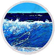 Round Beach Towel featuring the digital art Sea by Zedi