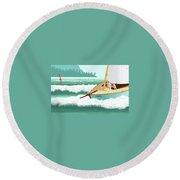 Seadog Round Beach Towel
