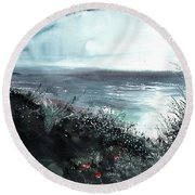 Seaface Round Beach Towel