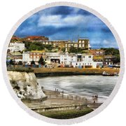 Seafront Broadstairs Kent Round Beach Towel