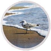 Seagull Round Beach Towel