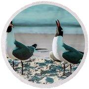 Seagull Serenade 4954 Round Beach Towel