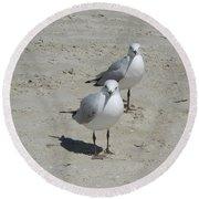 Seagulls Round Beach Towel