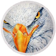 Seahawk Round Beach Towel