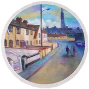 Sean Hueston Place Limerick Ireland Round Beach Towel