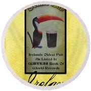 Seans Bar Guinness Pub Sign Athlone Ireland Round Beach Towel