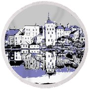 Seaport Mirror Round Beach Towel