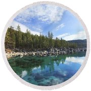 Round Beach Towel featuring the photograph Search For Depth by Sean Sarsfield