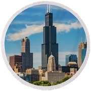 Sears Tower Chicago Round Beach Towel