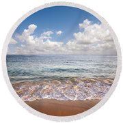 Seascape Round Beach Towel by Carlos Caetano