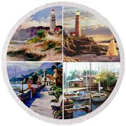 Seascape Gallery Round Beach Towel