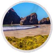 Seascape Oregon Coast Round Beach Towel