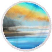 Seascape Painting Round Beach Towel