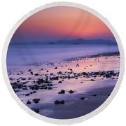 Seascape Sunset, China Round Beach Towel