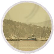 Seascapes Of Old Round Beach Towel