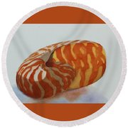 Seashell 1 Round Beach Towel