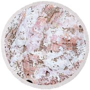 Seashell Abstract Round Beach Towel