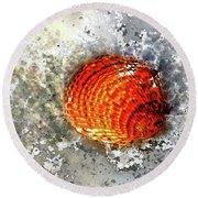 Seashell Art  Round Beach Towel