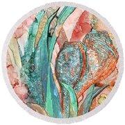 Seashell Flower - Organica Round Beach Towel