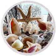Seashell Galore Round Beach Towel