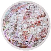 Seashell Of Pearl  Round Beach Towel