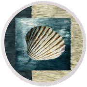 Seashell Souvenir Round Beach Towel