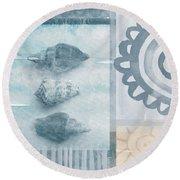 Seashells 2 Round Beach Towel