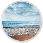 Seashore Round Beach Towel by Carlos Caetano