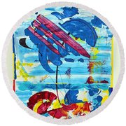 Seashore Holiday Round Beach Towel