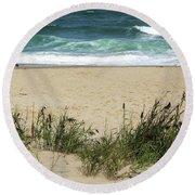 Seashore Retreat Round Beach Towel
