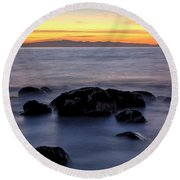 Seashore Sunrise Round Beach Towel